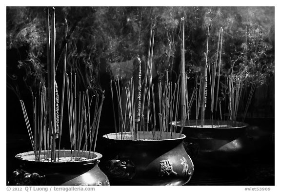 Urns with burning incense sticks, Thien Hau Pagoda, district 5. Cholon, District 5, Ho Chi Minh City, Vietnam