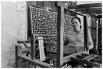 Silk making workshop. Hoi An, Vietnam ( black and white)