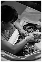 Embroidery artist. Hoi An, Vietnam ( black and white)