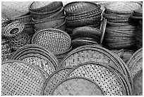 Baskets. Hoi An, Vietnam ( black and white)