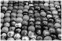Decorated bowls for sale. Hoi An, Vietnam ( black and white)