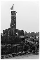 Flag Tower, Hanoi Citadel. Hanoi, Vietnam (black and white)