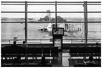 Waiting room, Tan Son Nhat airport, Tan Binh district. Ho Chi Minh City, Vietnam ( black and white)