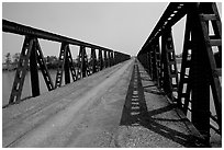 Bridge over the Ben Hai river, which used to mark the separation between South Vietnam and North Vietnam. Vietnam (black and white)