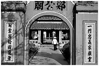 Even far in the south, cultural chinese influence is obvious in this temple. Ha Tien, Vietnam (black and white)