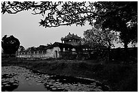 Imperial library, citadel. Hue, Vietnam (black and white)