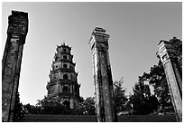 Thien Mu pagoda. Hue, Vietnam (black and white)