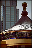 Dome of the Chinese cultural center. Calgary, Alberta, Canada