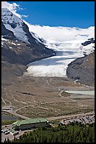 Icefields Center and Athabasca Glacier. Jasper National Park, Canadian Rockies, Alberta, Canada