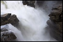 Rushing water, Athabasca Falls. Jasper National Park, Canadian Rockies, Alberta, Canada