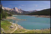 Medicine Lake, afternoon. Jasper National Park, Canadian Rockies, Alberta, Canada (color)