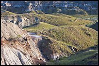 Hills and badlands, morning, Dinosaur Provincial Park. Alberta, Canada (color)