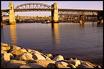 Burrard Bridge, late afternoon. Vancouver, British Columbia, Canada