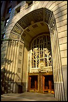 Art Deco entrance, 255 Burrard Street. Vancouver, British Columbia, Canada