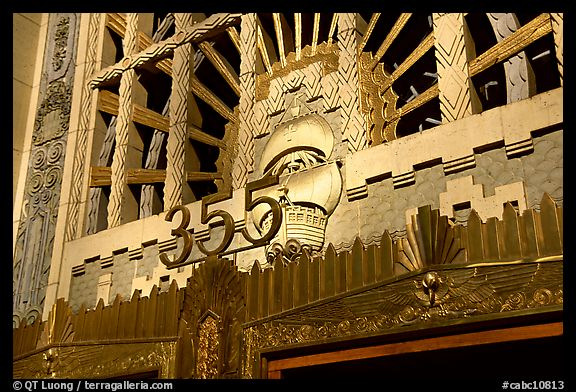 Art Deco entrance of the Marine building. Vancouver, British Columbia, Canada