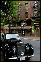 Classic car in Water Street. Vancouver, British Columbia, Canada