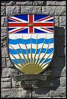 Shield of British Columbia Province. Victoria, British Columbia, Canada
