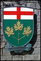 Shield of Ontario Province. Victoria, British Columbia, Canada