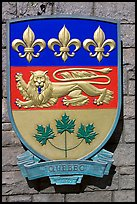 Shield of Quebec Province. Victoria, British Columbia, Canada