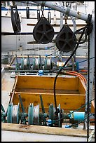Fishing equipment on boat, Uclulet. Vancouver Island, British Columbia, Canada ( color)