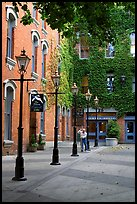 Alley with street lamps, Bastion Square. Victoria, British Columbia, Canada ( color)