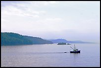 Fishing boat in the San Juan Islands. Vancouver Island, British Columbia, Canada ( color)