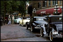 Classic cars in Gastown. Vancouver, British Columbia, Canada