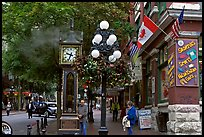Steam clock in Water Street. Vancouver, British Columbia, Canada (color)