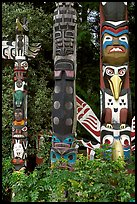 Totems near the Capilano bridge. Vancouver, British Columbia, Canada