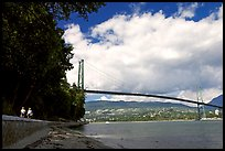 Lions Gate Bridge across Burrard Inlet. Vancouver, British Columbia, Canada