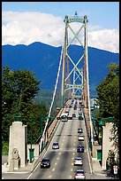Lions Gate Bridge, mid-day. Vancouver, British Columbia, Canada