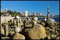 Balanced rocks and skyline, Stanley Park. Vancouver, British Columbia, Canada