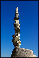 Balanced rocks against blue sky, Stanley Park. Vancouver, British Columbia, Canada