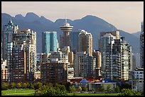 Downtown skyline and mountains. Vancouver, British Columbia, Canada