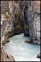 Tokkum Creek at the entrance of narrows of Marble Canyon. Kootenay National Park, Canadian Rockies, British Columbia, Canada (color)