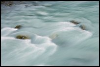 Water flowing in Tokkum Creek. Kootenay National Park, Canadian Rockies, British Columbia, Canada ( color)