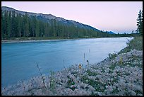 Kootenay River and Mitchell Range, sunset. Kootenay National Park, Canadian Rockies, British Columbia, Canada