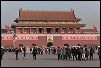 Tiananmen Gate to the Forbidden City from Tiananmen Square. Beijing, China ( color)