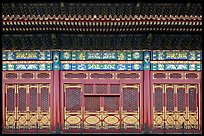 Facade detail in the back of the Hall of Preserving Harmony, Forbidden City. Beijing, China ( color)