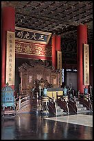 Throne inside Palace of Heavenly Purity, Forbidden City. Beijing, China ( color)