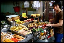 Food stall, Kowloon. Hong-Kong, China ( color)