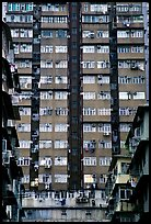 High-rise residential building in a popular district, Kowloon. Hong-Kong, China ( color)