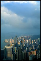 Hong-Kong citiscape from Victoria Peak, sunset. Hong-Kong, China ( color)