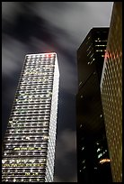 Cheung Kong Center (290m) building at night. Hong-Kong, China ( color)