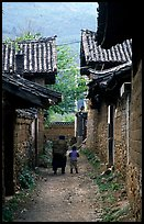 Village streets. Baisha, Yunnan, China ( color)