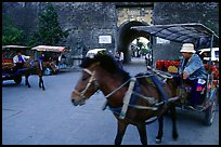 Horse carriage near the North Gate. Dali, Yunnan, China ( color)
