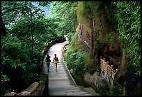 Entrance walkway to the Grand Buddha complex. Leshan, Sichuan, China (color)