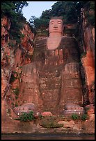 Da Fo (Grand Buddha) seen from the river. Leshan, Sichuan, China ( color)