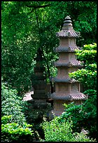 Stupa in the gardens of Wuyou Si. Leshan, Sichuan, China ( color)