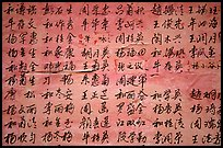 Chinese caligraphy. Lijiang, Yunnan, China (color)